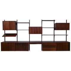 Midcentury Rosewood Poul Cadovius Royal System Wall Unit