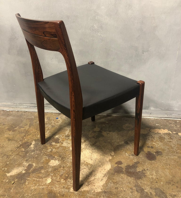Midcentury Rosewood Side Chair In Good Condition For Sale In BROOKLYN, NY