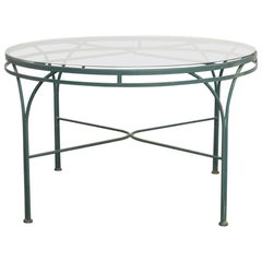 Midcentury Round Aluminium Garden or Dining Table