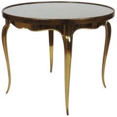 Midcentury Round Bronze Coffee Table