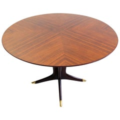 Midcentury Round Dining Table by Vittorio Dassi, Italy