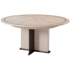 Midcentury Round Dining Table, Light