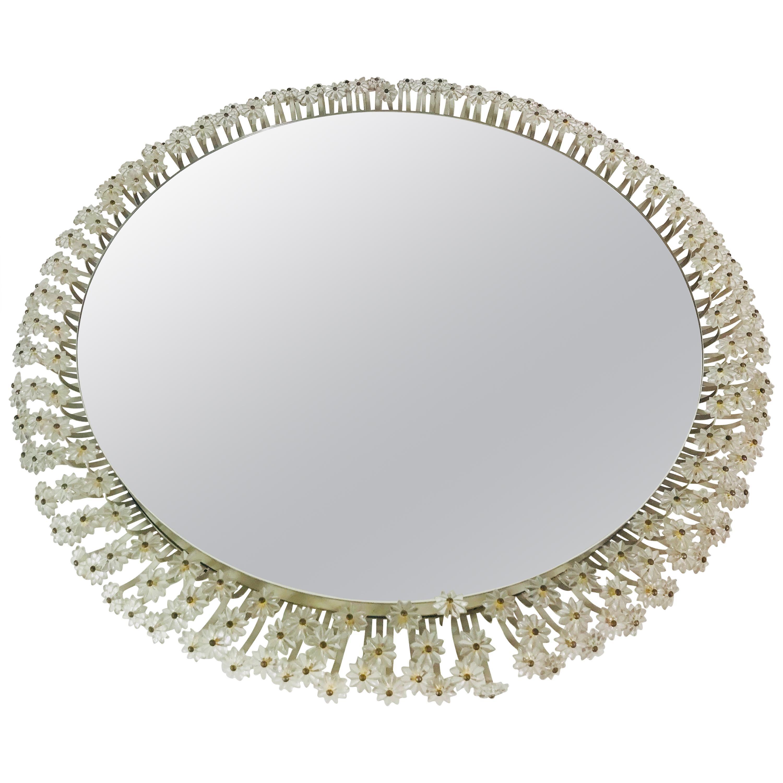 Midcentury Round Illuminated Mirror by Emil Stejnar for Rupert Nikoll, 1960s