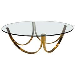 Midcentury Round Roger Sprunger Trimark Coffee Table