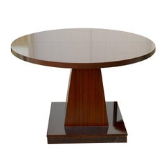 Midcentury Round Rosewood Chelsea Table Attributed to Introini and Saporiti
