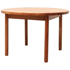 Midcentury Round Swedish Pine Dining Table