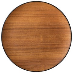 Mid Century Round Teak Serving Tray Platter