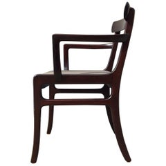 Midcentury Rungstedlund Mahogany Armchair by Ole Wanscher for P. Jeppesen, 1960s