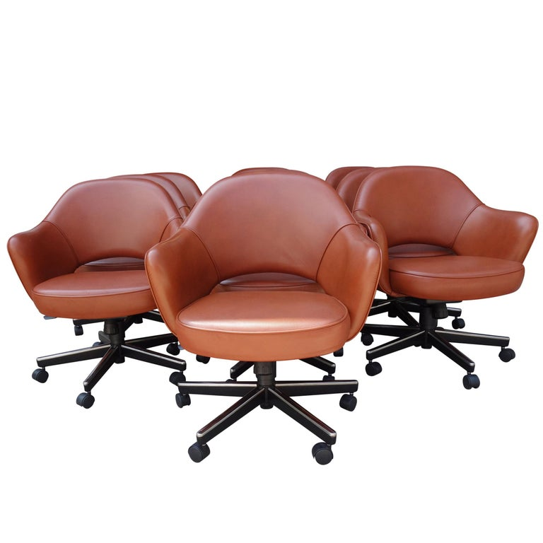Midcentury Saarinen Executive Chairs for Knoll For Sale