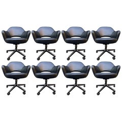Midcentury Saarinen Executive Chairs for Knoll Set of Eight