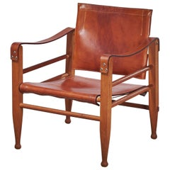 Midcentury Safari Chair from Aage Bruun and Son