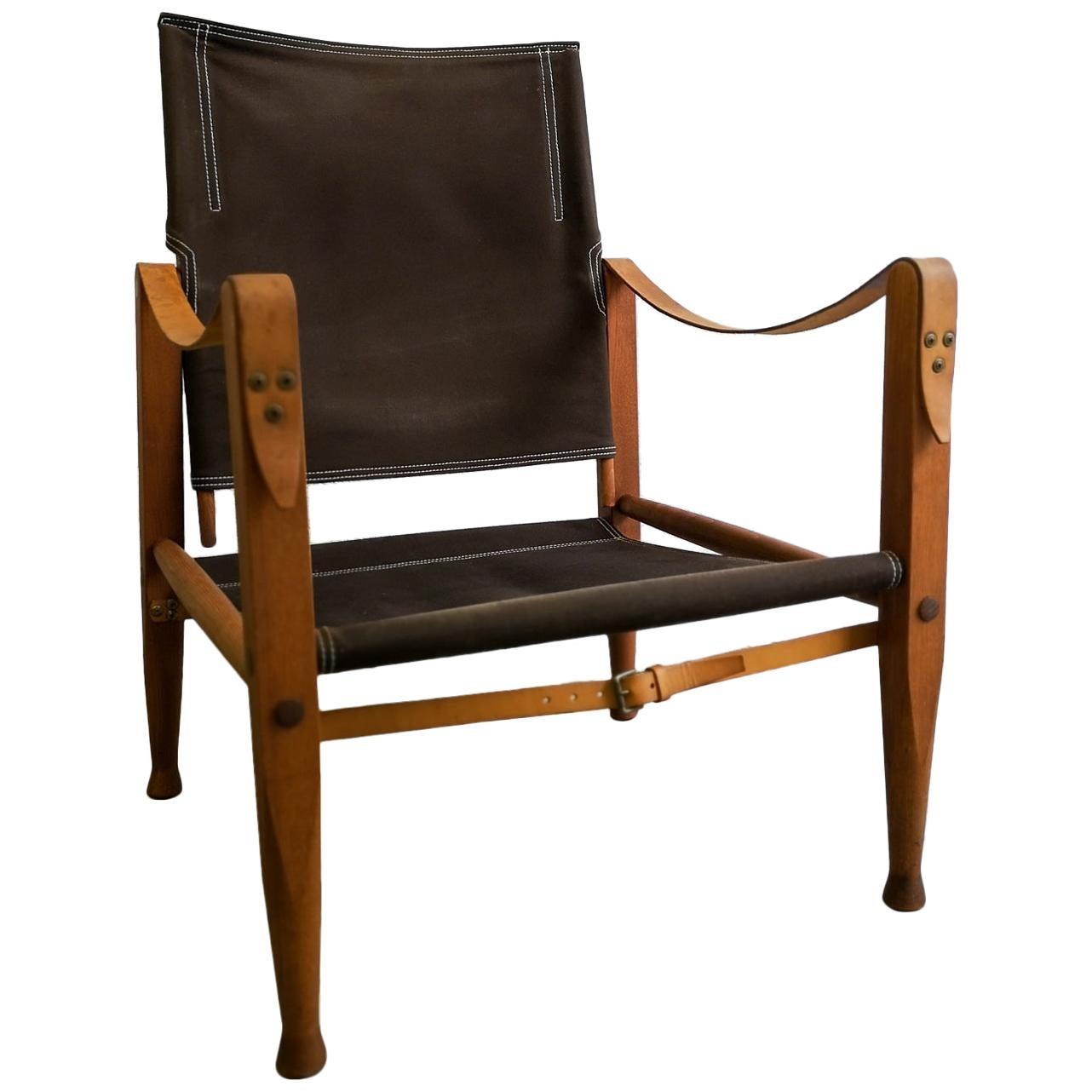 Midcentury Safari Chair Kaare Klint by Rud Rasmussen