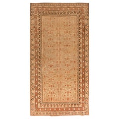 Midcentury Samarkand Caramel, Camel, Sandy Beige and Brown Handwoven Wool Rug