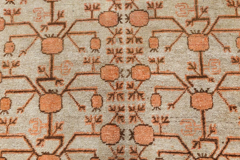 Mid-Century Modern Midcentury Samarkand Handmade Wool Rug For Sale