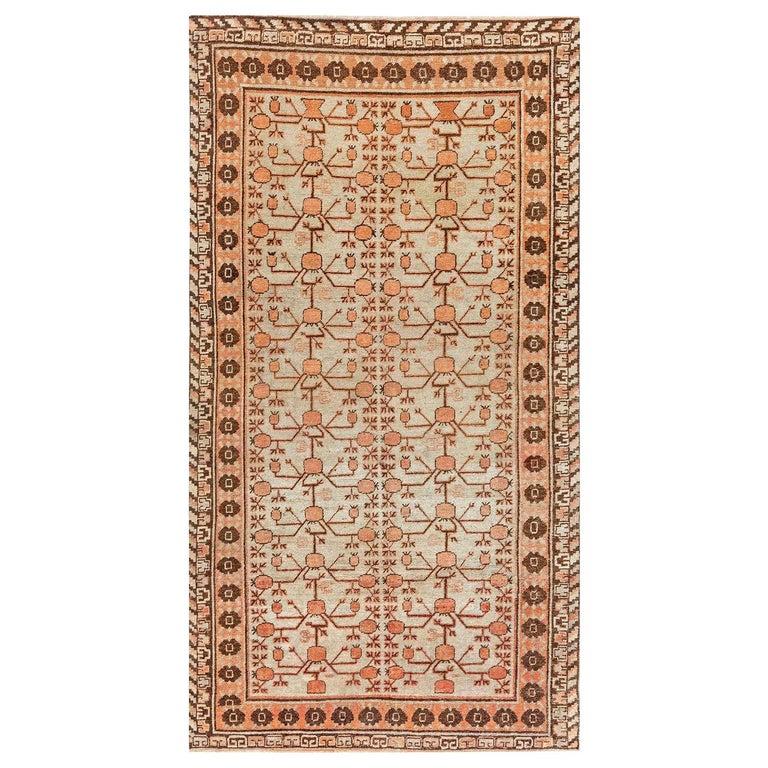 Midcentury Samarkand Handmade Wool Rug For Sale