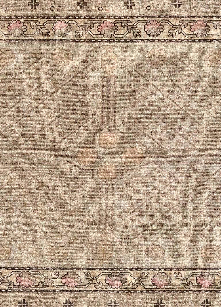 Midcentury Samarkand rug Size: 6'1