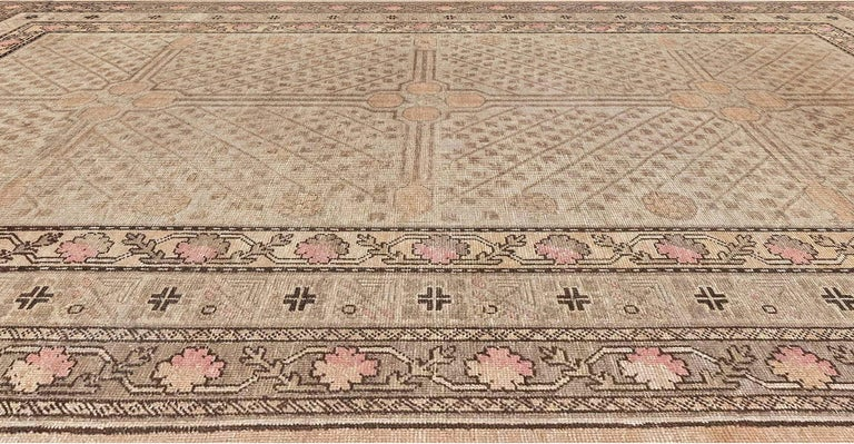 Uzbek Midcentury Samarkand Rug For Sale