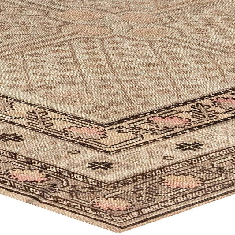 Wool Midcentury Samarkand Rug For Sale
