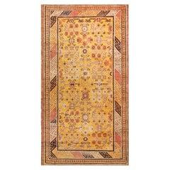 Midcentury Samarkand Warm Caramel, Camel, Beige and Brown Handwoven Wool Rug