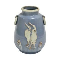 Midcentury Scandinavian Baby Blue Vase, Norwegian