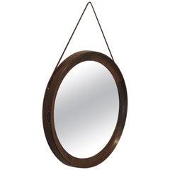 Midcentury Scandinavian Circular Wall Mirror Uno Osten Kristiansson Luxus Sweden
