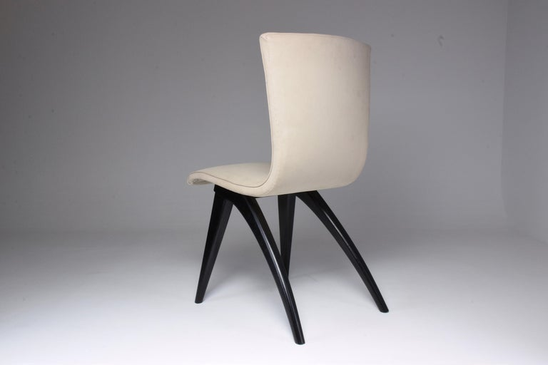 Midcentury Scandinavian Dining Chairs by CJ Van Os Culemborg, Set of Four, 1950s For Sale 2