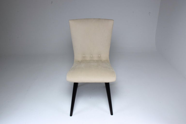 Midcentury Scandinavian Dining Chairs by CJ Van Os Culemborg, Set of Four, 1950s For Sale 3