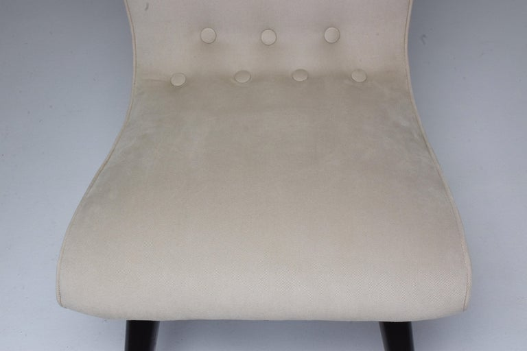 Midcentury Scandinavian Dining Chairs by CJ Van Os Culemborg, Set of Four, 1950s For Sale 8
