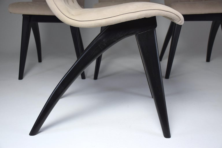 Midcentury Scandinavian Dining Chairs by CJ Van Os Culemborg, Set of Four, 1950s For Sale 10