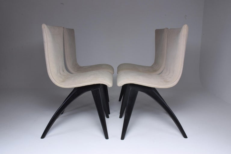 Mid-Century Modern Midcentury Scandinavian Dining Chairs by CJ Van Os Culemborg, Set of Four, 1950s For Sale