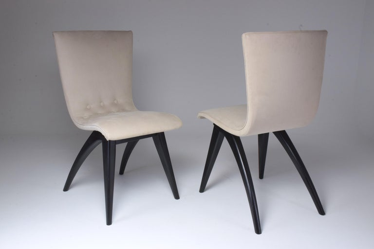 Lacquered Midcentury Scandinavian Dining Chairs by CJ Van Os Culemborg, Set of Four, 1950s For Sale