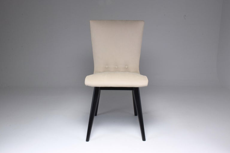 Midcentury Scandinavian Dining Chairs by CJ Van Os Culemborg, Set of Four, 1950s In Good Condition For Sale In Paris, FR
