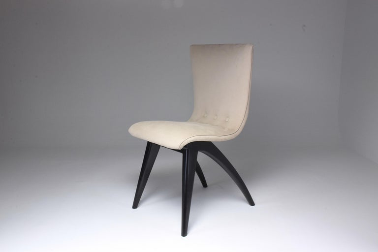 Mid-20th Century Midcentury Scandinavian Dining Chairs by CJ Van Os Culemborg, Set of Four, 1950s For Sale
