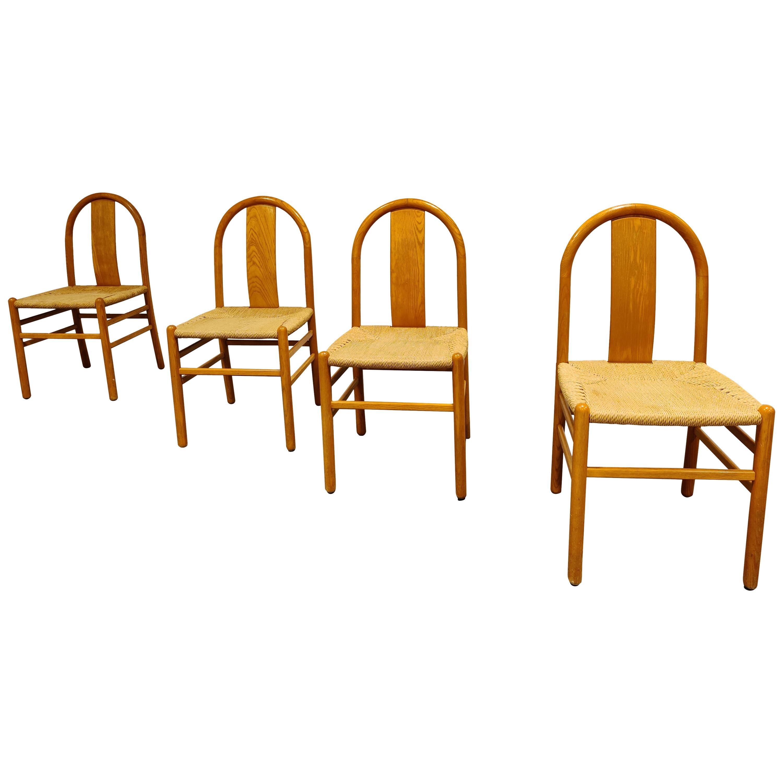Midcentury Scandinavian Dining Chairs, Set of 4, 1960s