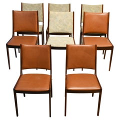 Midcentury Scandinavian Dining rosewood, Chairs, 1960s