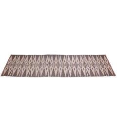 Midcentury Scandinavian Flat-Weave Gallery Carpet, 1950s