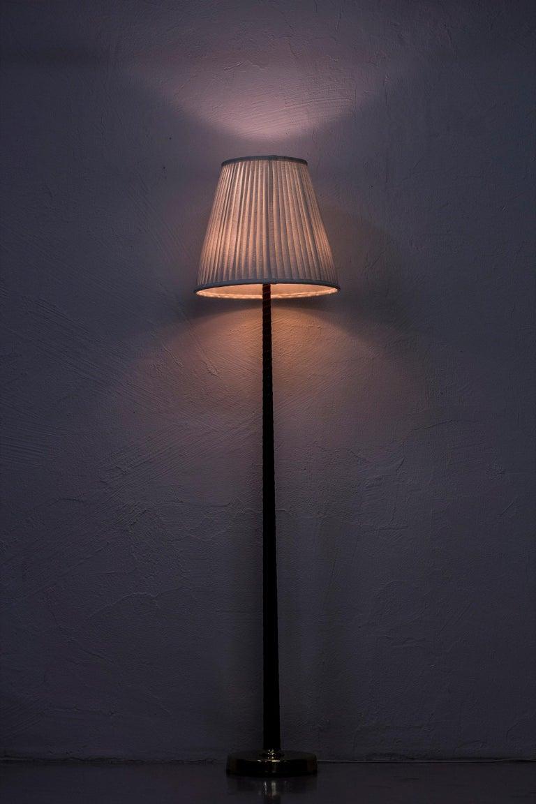 Midcentury Scandinavian Floor Lamp by Hans Bergström, Ateljé Lyktan, 1940s For Sale 3