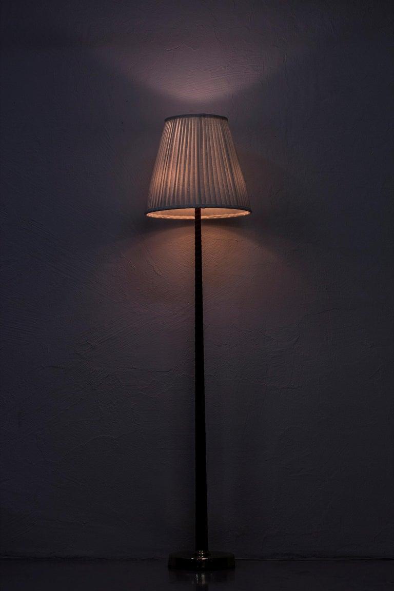 Midcentury Scandinavian Floor Lamp by Hans Bergström, Ateljé Lyktan, 1940s For Sale 2