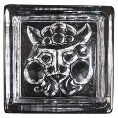Midcentury Scandinavian Glass Viking Dish