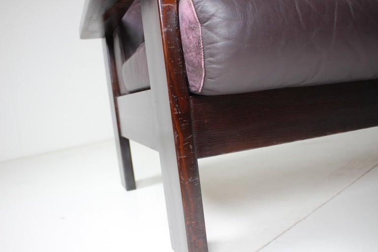 Midcentury Scandinavian Leather Sofa, 1960s For Sale 3