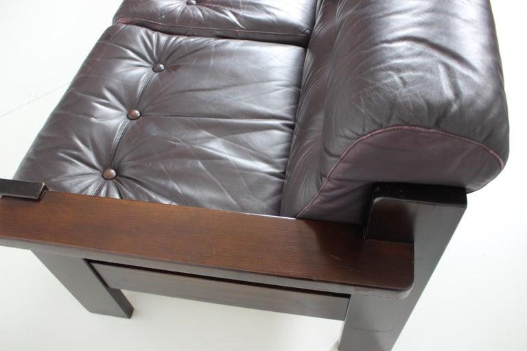 Mid-20th Century Midcentury Scandinavian Leather Sofa, 1960s For Sale
