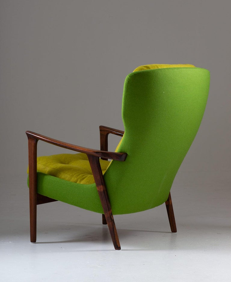 Swedish Midcentury Scandinavian Lounge Chair by Bröderna Andersson For Sale