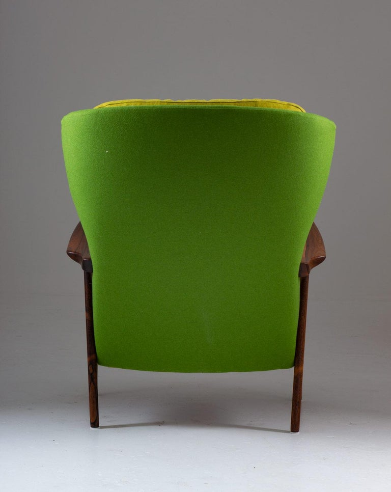 Midcentury Scandinavian Lounge Chair by Bröderna Andersson In Good Condition For Sale In Karlstad, SE