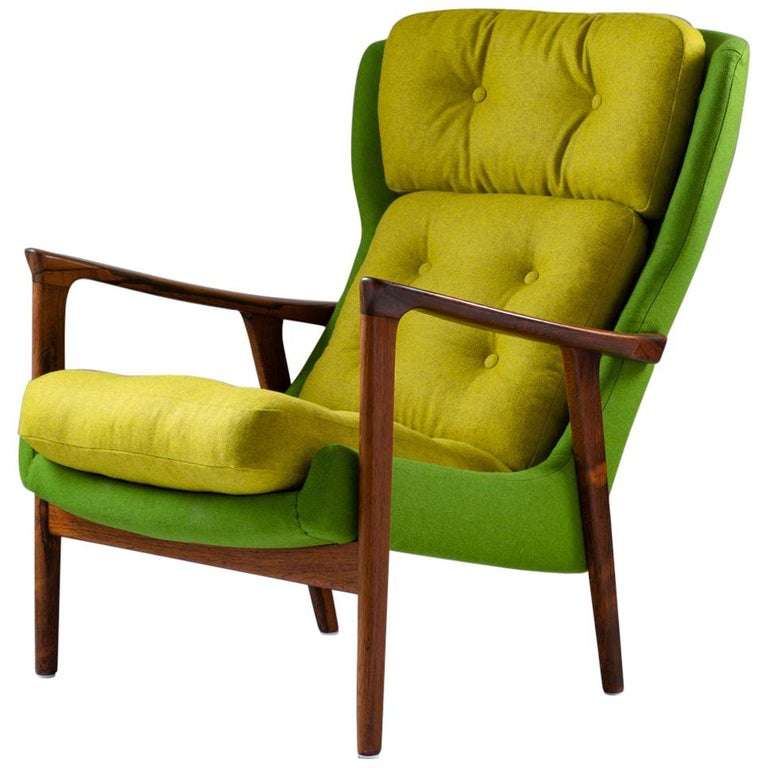 Midcentury Scandinavian Lounge Chair by Bröderna Andersson For Sale