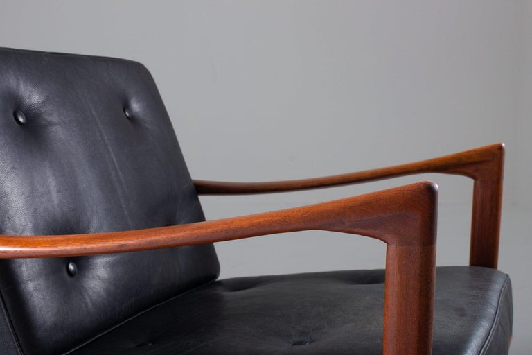 Leather Midcentury Scandinavian Lounge Chair
