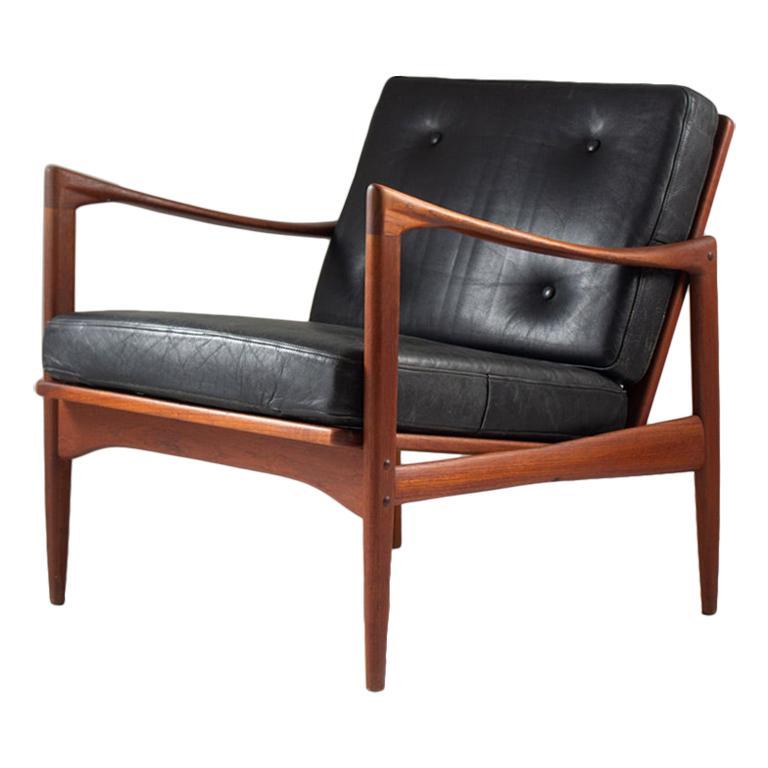 """Midcentury Scandinavian Lounge Chair """"Kanidaten"""" by Ib Kofod Larsen"""
