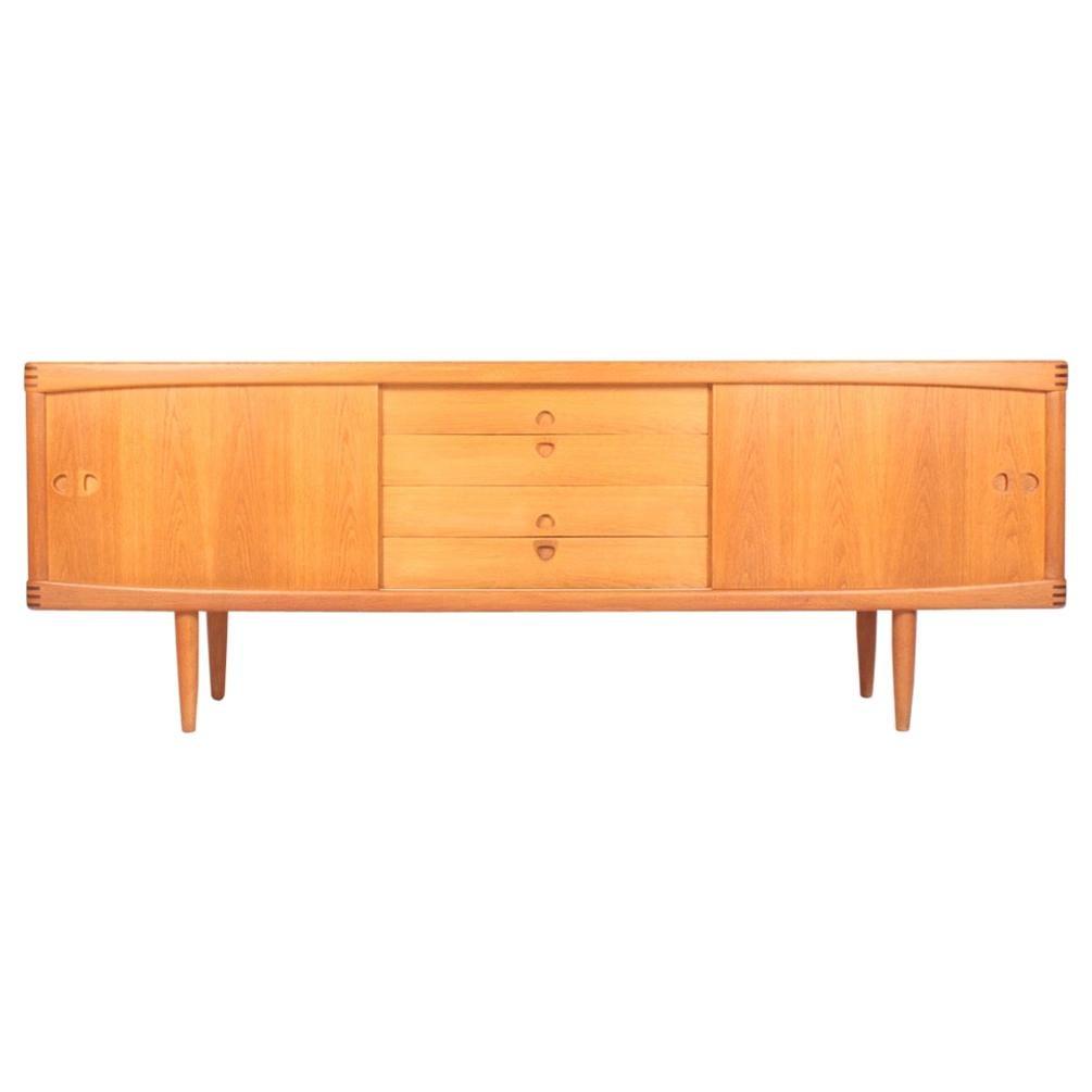 Midcentury Scandinavian Modern Low Sideboard in Oak by H.W. Klein, 1960s