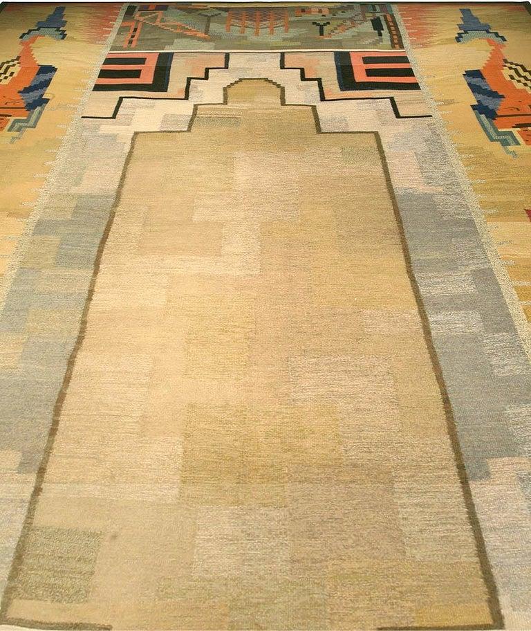 Midcentury Scandinavian rug Size: 13'3