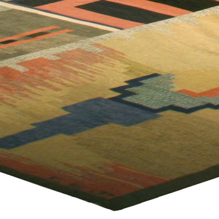 Hand-Knotted Midcentury Scandinavian Rug For Sale