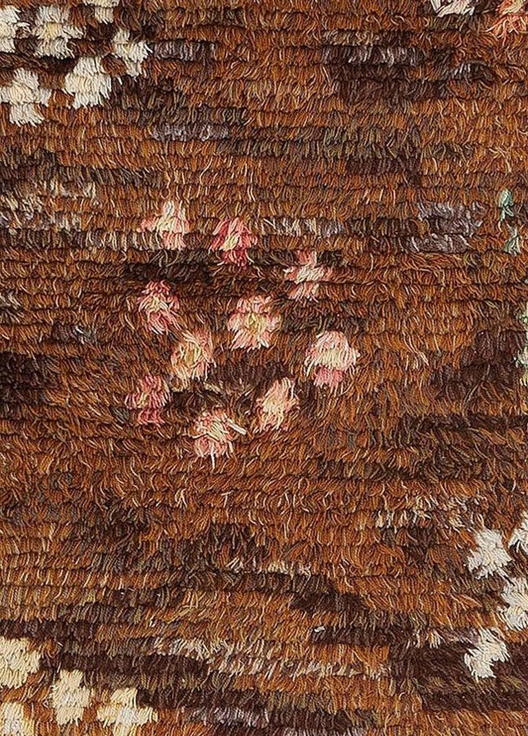 Midcentury Scandinavian Rya rug by Helge Hamnert Hogsby Size: 7'0